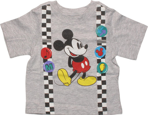 Mickey Mouse Suspenders and Pins Infant T-Shirt