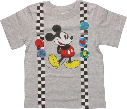 075b9377d Mickey Mouse Suspenders and Pins Toddler T-Shirt