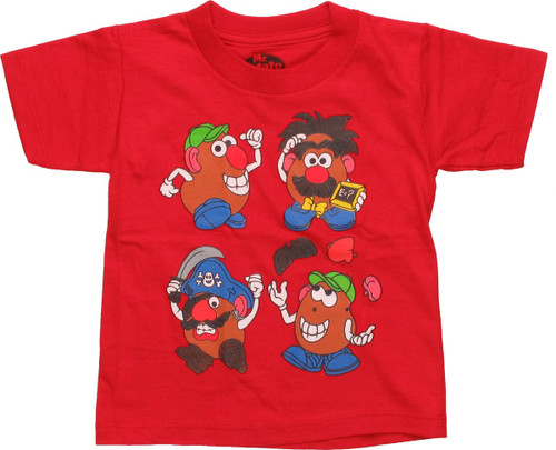 Mr Potato Head Change Up Red Toddler T-Shirt