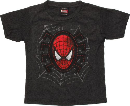Spiderman Mask Stitched Outlined Toddler T-Shirt