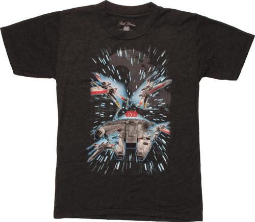 Star Wars Rebel Ships Hyperspace Juvenile T-Shirt