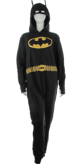 Batman with Belt Costume Hooded Union Suit