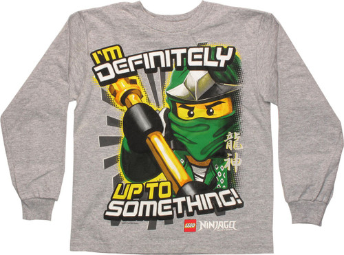 Lego Ninjago I'm Up to Something LS Juvenile Shirt