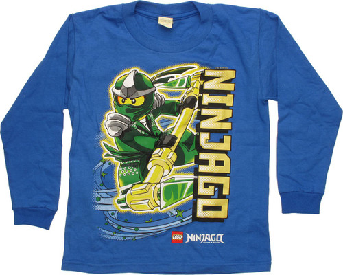 Lego Ninjago Lloyd Blue Long Sleeve Youth T-Shirt