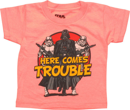 Star Wars Here Comes Trouble Coral Toddler T-Shirt