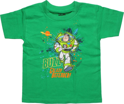 Toy Story Buzz Galaxy Defender Green Toddler Shirt