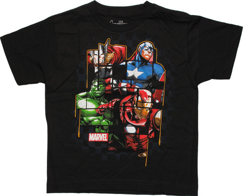 Avengers Heroes Fragmented Pieces Juvenile T-Shirt