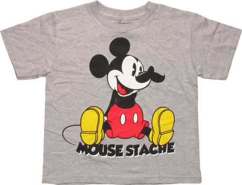Mickey Mouse Stache Juvenile T-Shirt