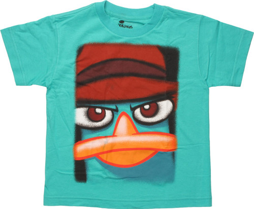 Phineas and Ferb Big Face Perry Juvenile T-Shirt