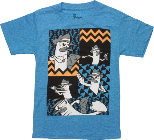 Phineas and Ferb Perry Action Panel Juvenile Shirt