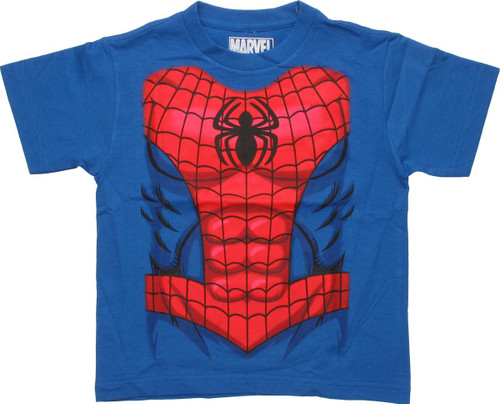 Spiderman Abs Costume Juvenile T-Shirt