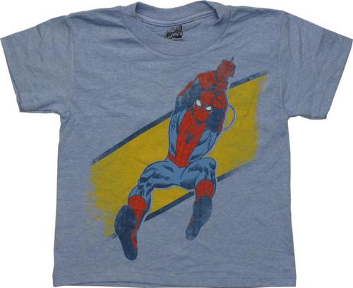 Spiderman Retro Swinging Juvenile T-Shirt