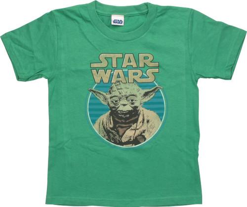 Star Wars Name Yoda in a Circle Juvenile T-Shirt