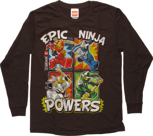 Lego Ninjago Epic Powers Long Sleeve Youth T-Shirt