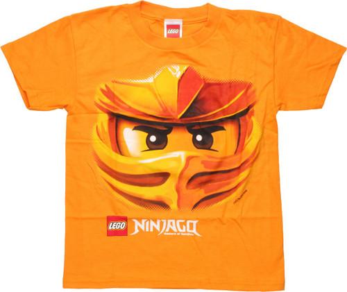 Lego Ninjago Gold Ninja Upclose Youth T-Shirt