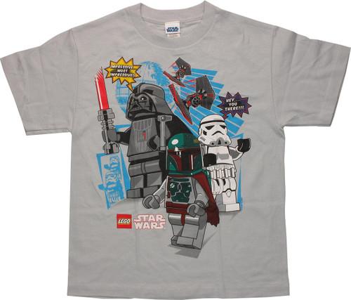 Star Wars Lego Villains Gray Youth T-Shirt