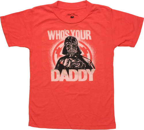 Star Wars Vader Who's Your Daddy Juvenile T-Shirt