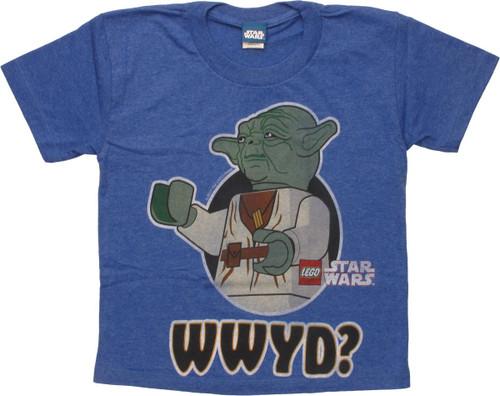 Star Wars Lego Yoda WWYD Juvenile T-Shirt