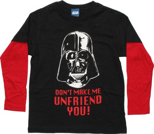Star Wars Don't Make Me Unfriend LS Juvenile Shirt