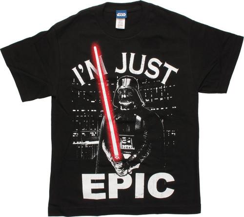 Star Wars Darth Vader I'm Just Epic Youth T-Shirt