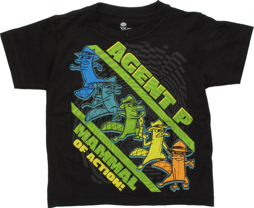 Phineas and Ferb P Mammal Action Juvenile T-Shirt