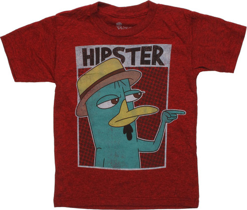 Phineas and Ferb Perry Hipster Juvenile T-Shirt