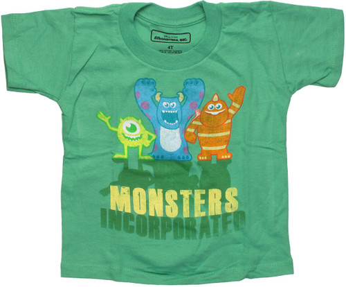 Monsters Incorporated Trio Green Toddler T-Shirt