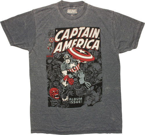 Captain America Featuring Red Skull Cover T-Shirt
