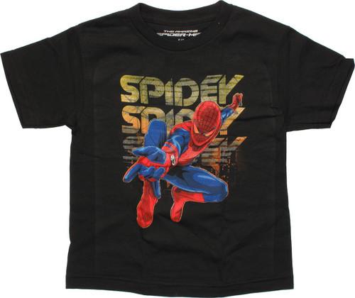 Amazing Spiderman Spidey Black Juvenile T-Shirt