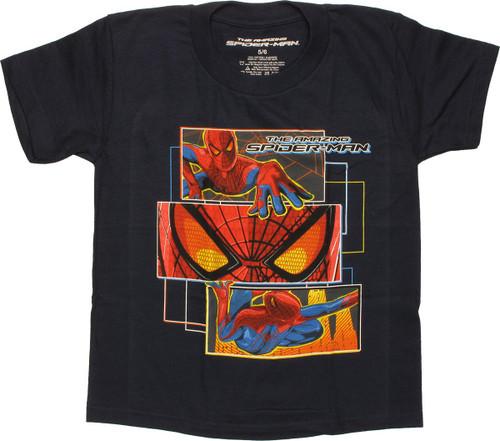 Amazing Spiderman Rectangle Panels Juvenile Shirt