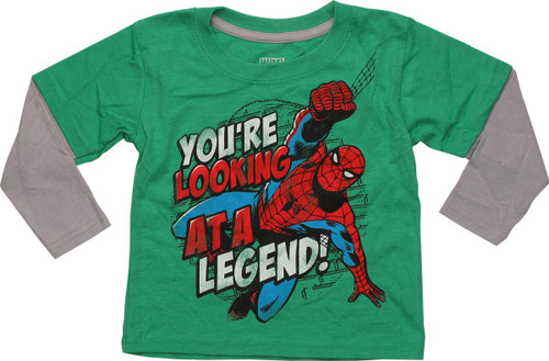 Spiderman You're Looking A Legend LS Toddler Shirt