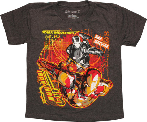 b26842db Iron Man 3 Jarvis Uploading Files Juvenile T-Shirt