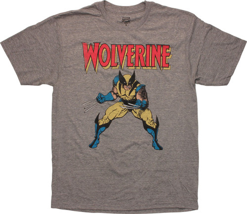 X Men Wolverine Pose Vintage Distressed T-Shirt