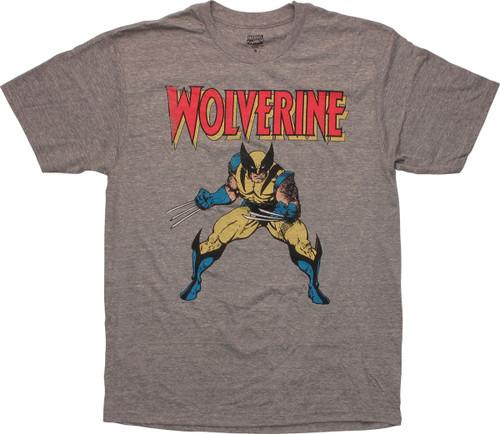 X Men Wolverine Pose Vintage Distressed T-Shirt