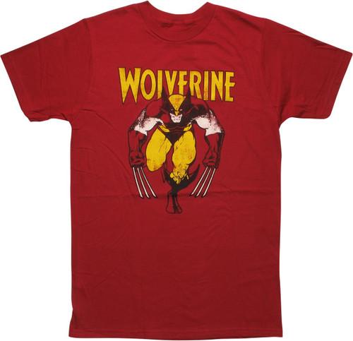 X Men Wolverine Vintage Stance T-Shirt