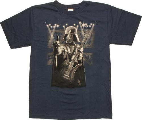Star Wars Vader Playing Guitar Navy Youth T-Shirt