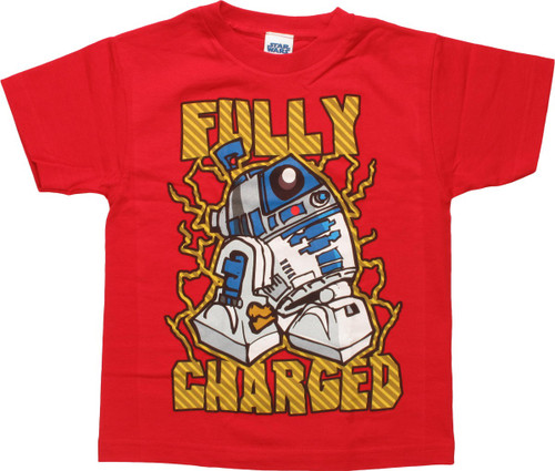 Star Wars R2-D2 Fully Charged Juvenile T-Shirt