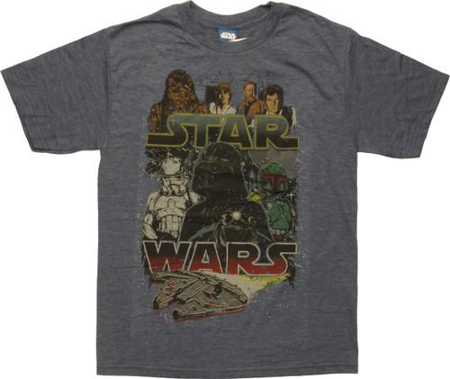 Star Wars Falcon Encounter Battle Youth T-Shirt