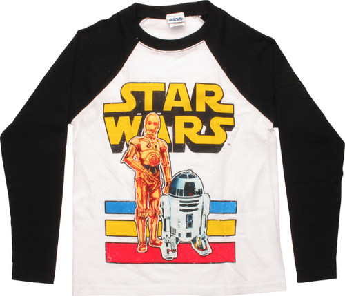 Star Wars C-3PO and R2-D2 Raglan Juvenile T-Shirt