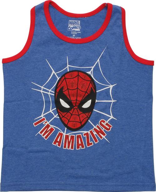 Spiderman Im Amazing Ringer Toddler Tank Top