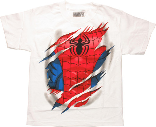Spiderman Costume Revealed Youth T-Shirt
