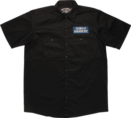 Sons Of Anarchy Blue Name Patch Reaper Work Shirt