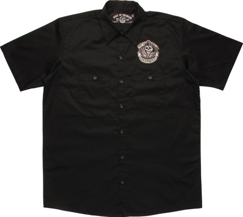 Sons Of Anarchy Grim Reaper Patch Work Shirt