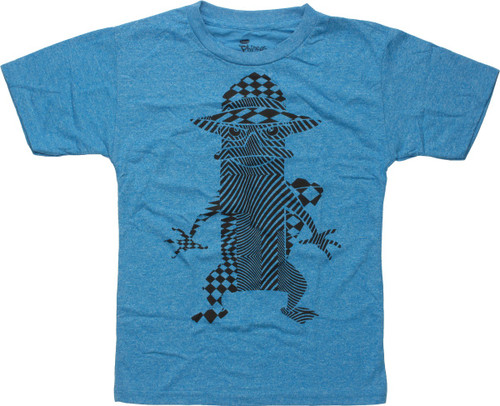 Phineas and Ferb Perry Shape Art Juvenile T-Shirt