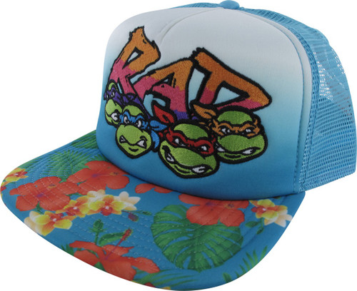 3bcf388c4cc Ninja Turtles Rad Flowers Trucker Snapback Hat