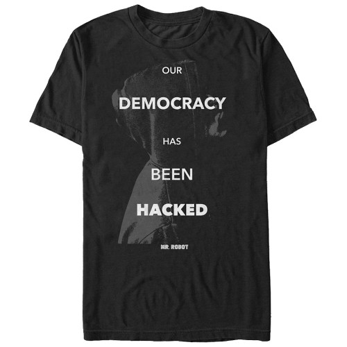 Mr Robot Democracy Hacked T-Shirt