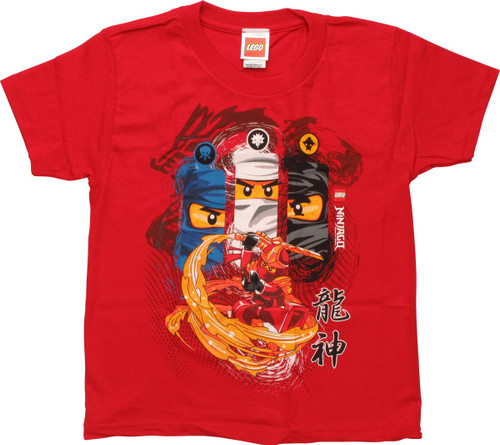 Lego Ninjago Warrior Fighters Red Juvenile T-Shirt