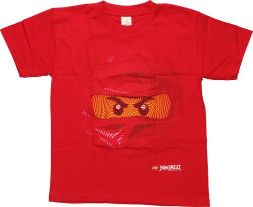 Lego Ninjago Red Ninja Swirl Face Youth T-Shirt