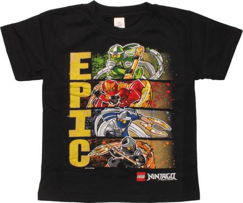 Lego Ninjago Epic Ninja Hero Panels Youth T-Shirt