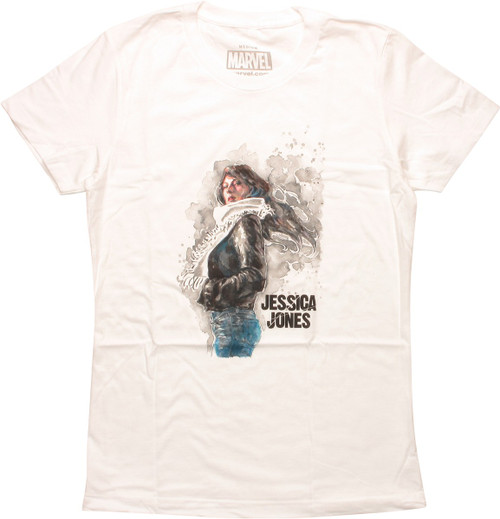 Jessica Jones Watercolor Womens Boyfriend T-Shirt